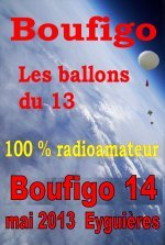 Boufigo 14 version SSTV dans ballon b14