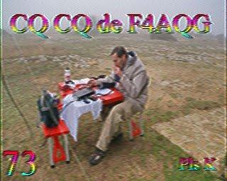 QSO SSTV sur le R7 dans activites hist5