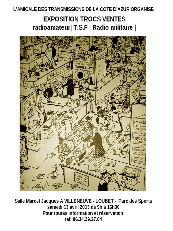 Exposition trocs ventes à VILLENEUVE - LOUBET (06) dans salons brocantes expo2013
