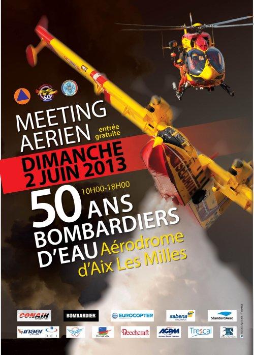 Meeting aérien à Aix Les Milles dans divers canadair-a4m
