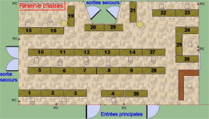 Plan des tables de la Frescoule
