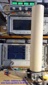 Antenne 5,7 GHz avec tuyau de gouttière de 80 mm-1